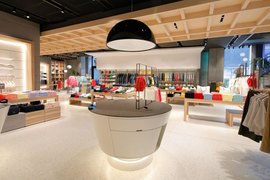 Benetton Flagship Store in der Londoner Oxford Street, Piano-Bereich