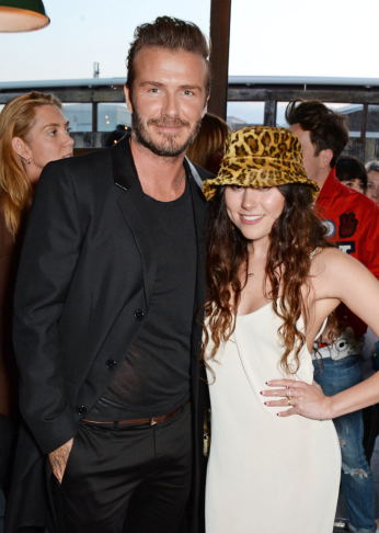 David Beckham und Singer-Songwriter Eliza Doolittle