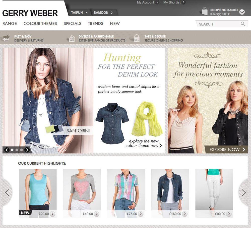 Gerry Weber Startet Eu Online Shop