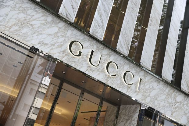 Download von www.picturedesk.com am 13.02.2020 (13:36). This photo shows the renewal store of Gucci in Chuo Ward, Tokyo on July 20, 2017. Gucci is an Italian luxury brand of fashion and leather goods, part of the Gucci Group, which is owned by the French holding company Kering. ( The Yomiuri Shimbun via AP Images ) - 20170720_PD0246