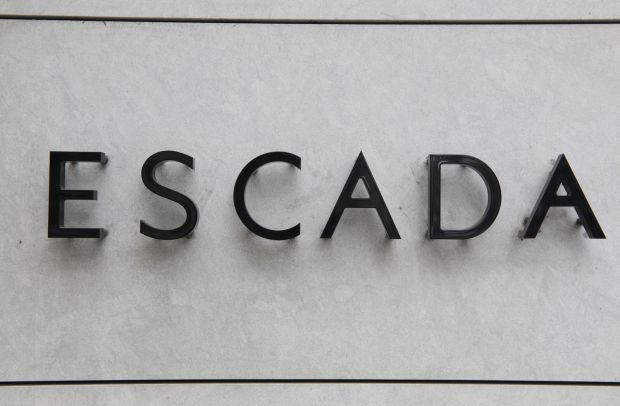 "Download von www.picturedesk.com am 04.11.2019 (14:12). 09 July 2019, Berlin: ""ESCADA"" stands on the facade of a branch of the luxury fashion company listed on the stock exchange Photo: Paul Zinken/dpa - 20190709_PD15210"