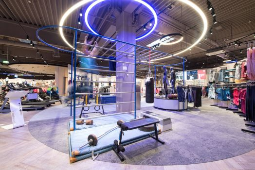 Fitness-Station im neuen Intersport Store in Steyr
