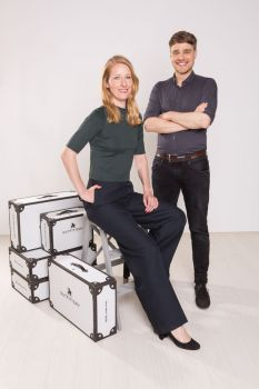 Julia Bösch, CEO Outfittery und Andreas Fischer, Modomoto Chief Strategy Officer