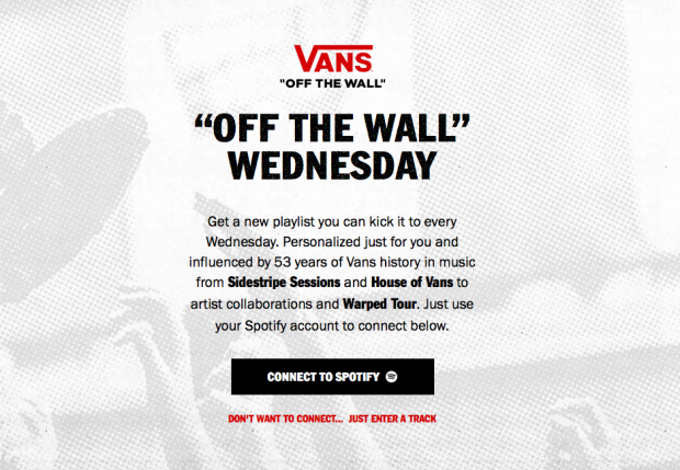 Vans x Spotify - Off the Wall Wednesday